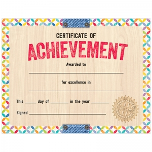 UPCYCLE STYLE CERTIFICATE OF  ACHIEVEMNET