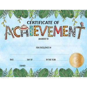 SAFARI FRIENDS LG CERTIFICATE AWARD  ACHIEVEMENT
