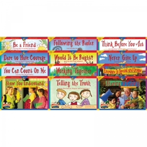 CHARACTER EDUCATION 12 BOOKS  VARIETY PK 1 EACH 3123-3134