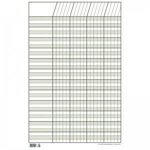 CHART INCENTIVE SMALL WHITE 14 X 22  VERTICAL