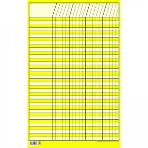 CHART INCENTIVE SMALL YELLOW  14 X 22 VERTICAL