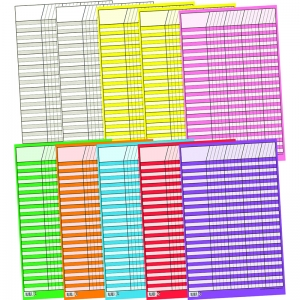 CHART INCENTIVE SMALL 10-PK 14 X 22  10 COLORS