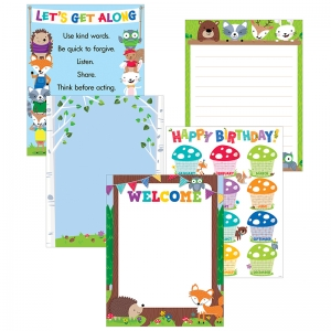 WOODLAND FRIENDS 5 POSTER PACK