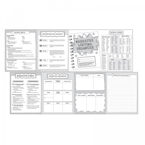 NARRATIVE GR 4-5 WRITING ORGANIZER  FOLD OUTS 30 SETS