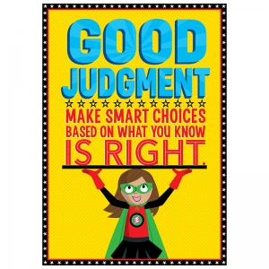 GOOD JUDGEMENT SUPERHERO POSTER  INSPIRE U