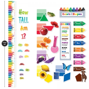 COLORS & SHAPES GROWTH CHART MINI  BULLETIN BOARD PACK