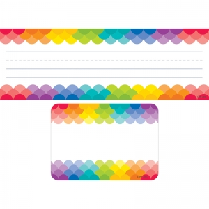 RAINBOW NAME PLATE LABEL COMBO SET