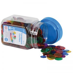 Transparent Counters  Mini Jar, Set of 2