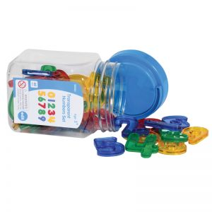 Transparent Number Set - Mini Jar, Set of 3