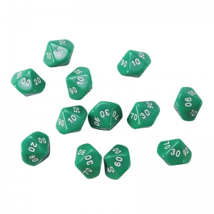 Place Value Dice, Tens, Set of 12