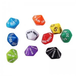 Place Value and Decimal Dice, Set of 10