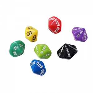 Place Value Dice Assortment, Set of 7