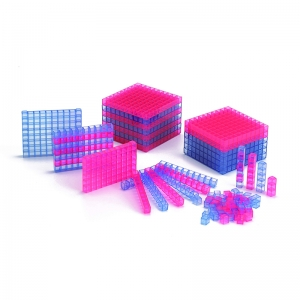 Transparent Interlocking Base Ten, Starter Set