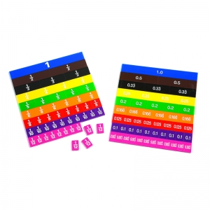 Fraction/Decimal Tile in Tray, Pack of 51