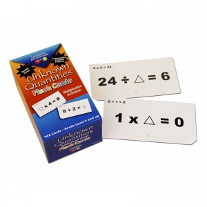 UNKNOWN QUANTITIES MULTIPLICATION &  DIVISION FLASH CARDS