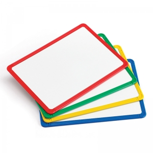 FRAMED METAL WHITEBOARDS SET OF 4  PLASTIC