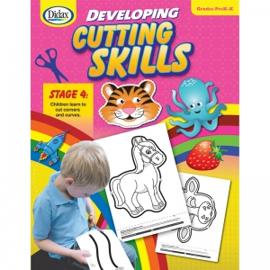 Didax Developing Cutting Skills Book, PreK-K