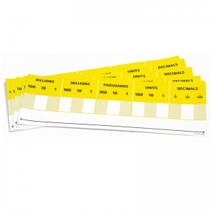Didax Desktop Place Value Card, Pack of 10