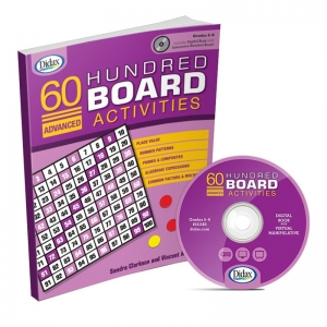 60 Advanced Hundred Board Activities Book, Grades 5-6