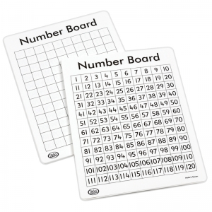 Write-On/Wipe-Off 120 Number Mats