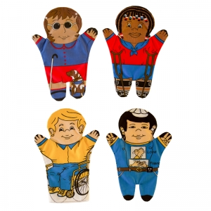 Special Needs 4-pc. Puppet Set - Multicultural