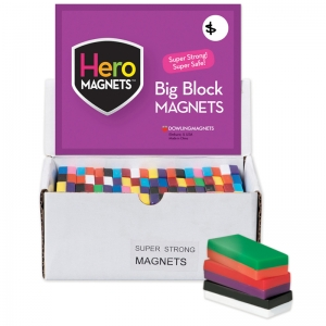 Hero Magnets Block Magnets, Display Box of 40