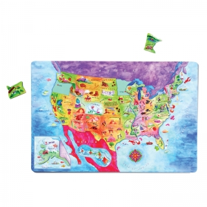 GEOPUZZLE MAGNETIC USA MAP 12X18
