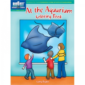 BOOST AT THE AQUARIUM COLORING BOOK  GR PK-K