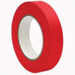 "Premium Grade Masking Tape, 1"" x 55 yds, Red"