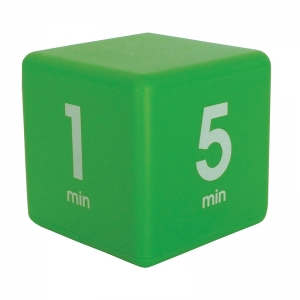 GREEN 15 MINUTE PRESET TIMER CUBE