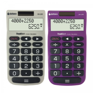 2LINE TRACKBACK HANDHELD CALCULATOR
