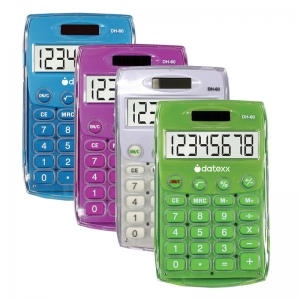HANDHELD ECO CALCULATOR ASSORTED