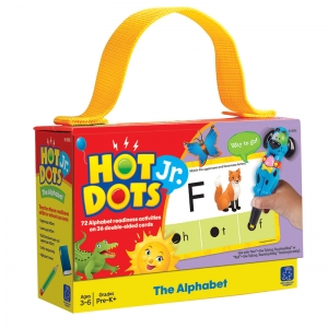 The Alphabet Hot Dots Jr.Card Set, 72/pkg