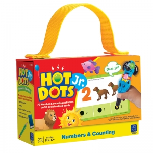 Numbers & Counting Hot Dots Jr.Card Set, 72/pkg