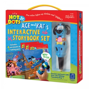 "Hot Dots� Jr. Interactive Storybooks, 4-Book Set plus ""Ace"" Pen"