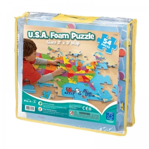 USA FOAM MAP PUZZLE