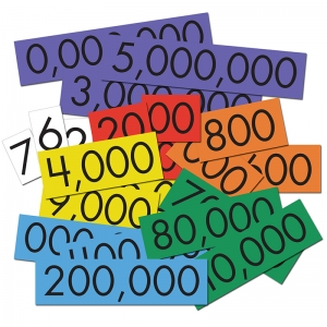 7-VALUE WHOLE NUMBERS PLACE VALUE  CARDS SET