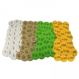 Sensational Math 4Value Decimals to Whole Number Place Value Discs, Pack of 1200