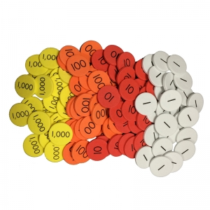 Sensational Math 4Value Whole Numbers Place Value Discs, Pack of 1200