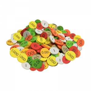 PLACE VALUE DISC 7 VALUE 2100 SET  DECIMAL/WHOLE NUM SENSATIONAL MATH