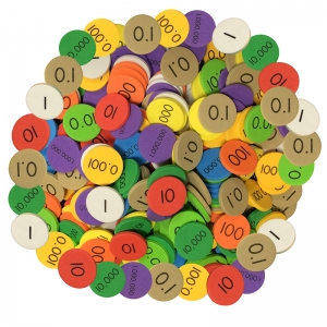 Sensational Math 10Value Decimals to Whole Numbers Place Value Disc, Pack of 3000