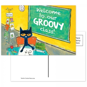 PETE THE CAT WELCOME POSTCARDS  GROOVY CLASS
