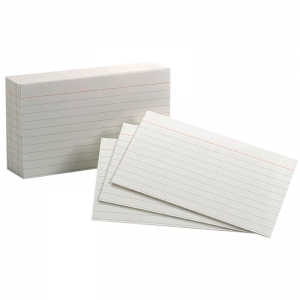 "Oxford� White Commercial Index Cards, 3"" x 5"", Ruled, 1000/pkg"