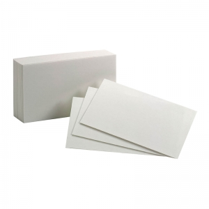 "Oxford Index Cards, 3"" x 5"", Blank, 100/pkg"