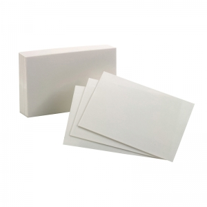 OXFORD INDEX CARDS 4X6 PLAIN WHITE  100 PER PACK