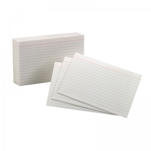"Oxford Index Cards, 4"" x 6"", Ruled, 100/pkg"