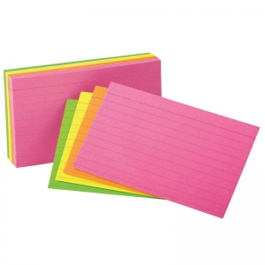 "Oxford� Glow Index Cards, 4"" x 6"""