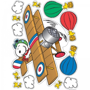 PEANUTS FLYING ACE WINDOW CLINGS