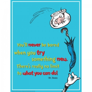 DR SEUSS TRY SOMETHING NEW 17X22  POSTER
