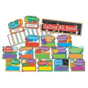 Hands on Management Job Chart Mini Bulletin Board Sets